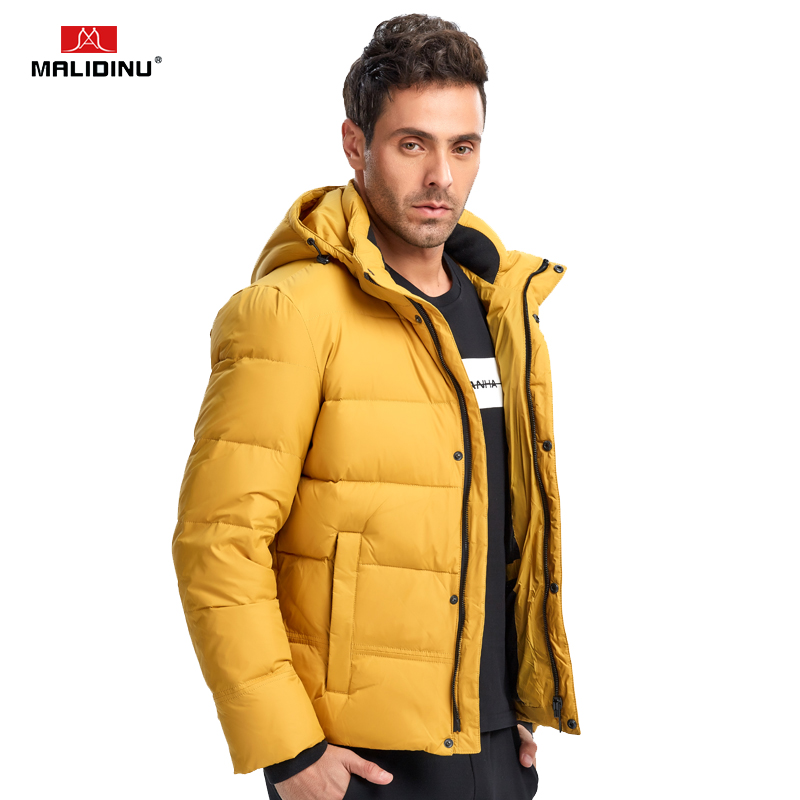 MALIDINU 2019 Down Jacket Men Winter Down Coat High Quality Brand Thick Warm Winter Jacket 70%White Duck Down Puffer Jacket Men