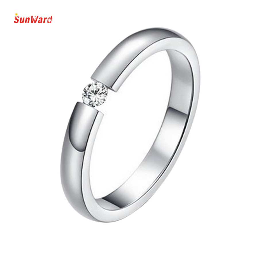 OTOKY Stylish Simplicity Single Crystal Rose Gold Surface Rings For Women Birth Stone Girlfriend Gifts 1PC