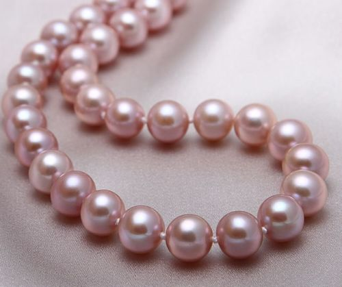 FREE SHIPPING>>@@@ Hot sale new Style >>>>>charming 8-9mm AAA+ south sea purple Pearl Necklace 17''
