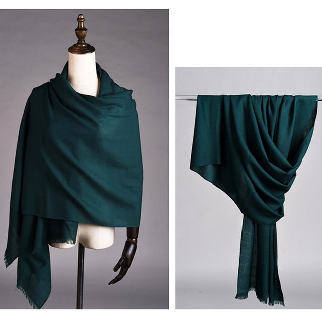 Invierno de las mujeres de Pashmina Bufanda A Cuadros Única Cadena de Patrón de La Moda Abrigo de Cachemira Bufanda Caliente A Estrenar