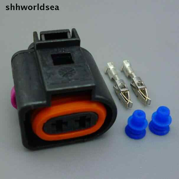shhworldsea 10set 2 PIN automotive wiring harness connector Auto car on trailer wiring harness plugs, control box connector plugs, waterproof 12 volt quick disconnect plugs, wiring a plug, 4 pin wire connector plugs, waterproof connector plugs, generator connector plugs,