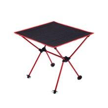 Taşınabilir Hafif Açık Havada Masa kamp masası Alüminyum Alaşımlı Piknik BARBEKÜ katlanır masalar Açık Seyahat Portatif Masa