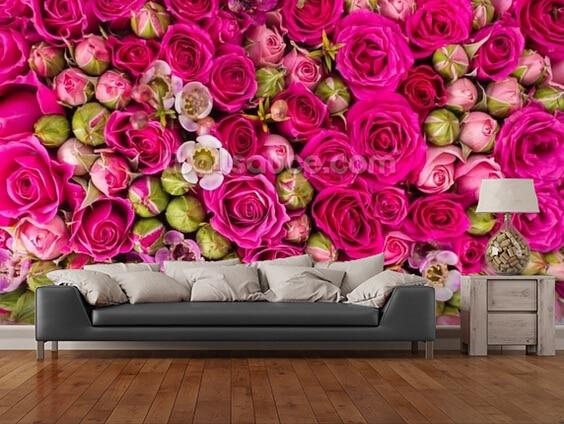 Buy custom modern wallpaper red rose 3d for 3d rose wallpaper for bedroom