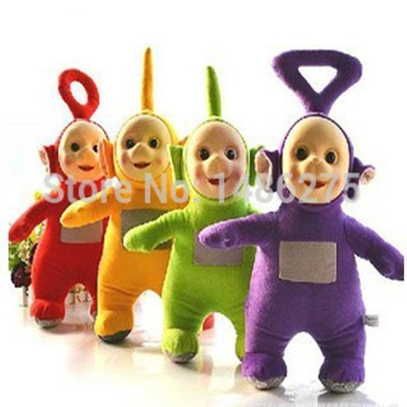2016 Teletubbies Laa Po Tinky Dipsy Plush Toy Doll Set 4pc / lot Hadiah Krismas Kanak-kanak Hadiah WJ233