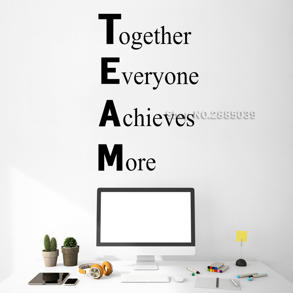 Definition of TEAM Vinyl Wall Sticker Motivate Employees Decal Office Company Art Wall Decor Team 3d Posters DIY Wallpaper LC650