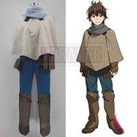 Grimgar of Fantasy and Ash Haruhiro Customized Uniforms Cosplay Costume Free Shipping