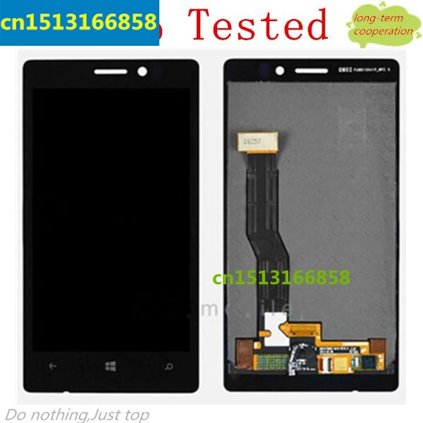 HK YJ 100% Tested For Nokia Lumia 925 LCD Screen and Digitizer Assembly with Front Housing - Silver (OEM)