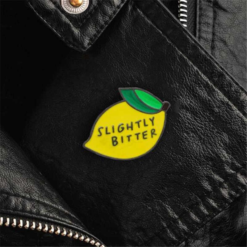 2018 новый милый лимонный металлический значок одежда принадлежности Декоративные аксессуары рубашка пальто декоративная пуговичная брошь значок для рюкзака