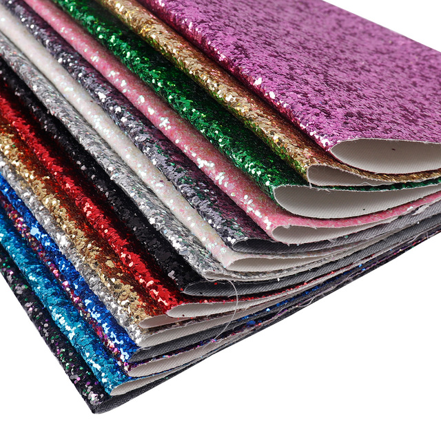 22*30CM Solid Color Glitter Fabric Apparel Sewing Accessories Garment Decorative Sewing Material Wedding Party Decoration 1