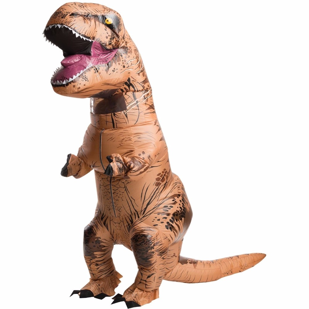 COSREA Adult inflatable Dinosaur  Costume Halloween Blowup T-REX  Inflatable Cosplay Costume Halloween Costumes for Men