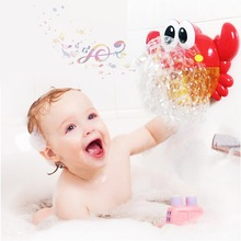 Outdoor New Bubble Crab/Frog Bath Toy for Children with Sucker Bubble Maker Bubble Maker Light Music Baby Bath Toy