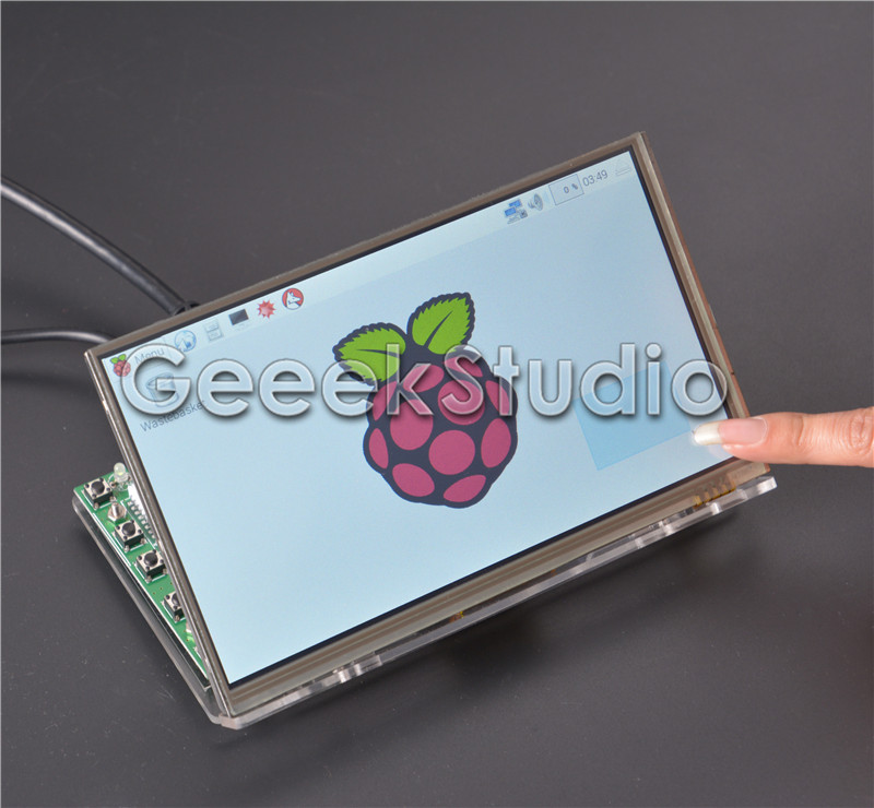 Raspberry Pi 7 inch LCD Display 1024*600 TFT Touch Screen Monitor with Drive Board HDMI VGA 2AV & Transparent Acrylic Bracket 12 inch 12 1 inch vga connector monitor 800 600 song machine cash register square screen lcd industrial monitor display