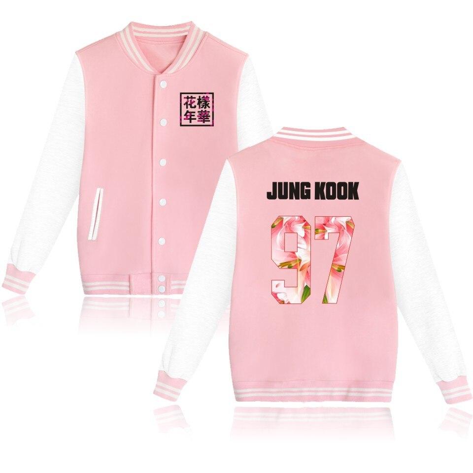 kpop BTS Bangtan Boys baseball uniform long sleeve jacket high quality hoody k-pop autumn winter with velvet academy wind coat