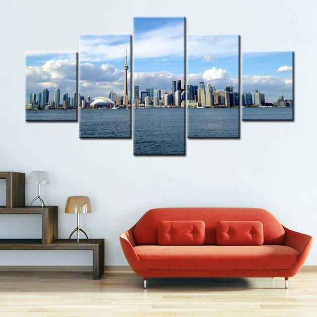 Toronto shanghai landscape poster artwork seascape scene picture office wall art canvas prints painting for bedroom