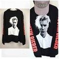 Buena calidad camiseta de los hombres de Justin Bieber Camiseta Propósito Viaje largas hombres de la camiseta de Algodón de manga t-shirt homme camiseta camiseta S-3XL