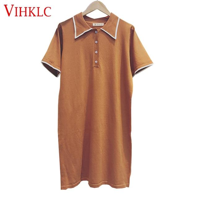 9961e7a1adf VIHKLC Summer Fashion Polo Shirt Women 2018 New Casual Short Sleeve Slim  Polos Mujer Shirts Tops Female Cotton Polo Shirt T419