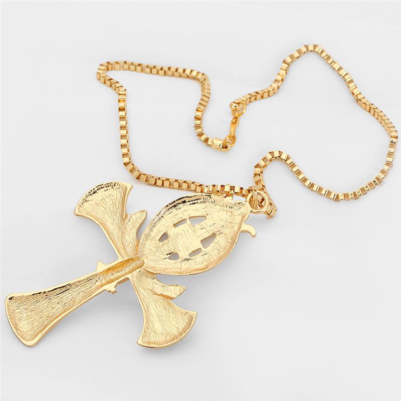 Ancient Ankh Cross Of Horus Egyptian Jewelry Male Eagle Snake Design Pendant Necklace Gold Color Hip Hop Chain Necklace Men in Pendant Necklaces from Jewelry Accessories