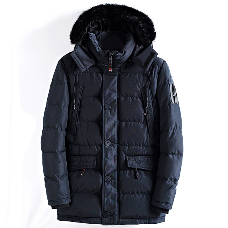 drop shipping 2018 Men Winter Jackets And Coats Man Slim Fit Thicken Fur Hooded Outwear Warm   Parkas   NXP26