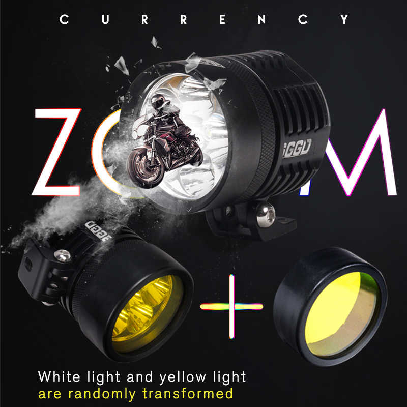 Aluminum 6000K Universal Motorcycle 6 Lamp LED Spot Light Spotlight Assist Lamp Headlight Spot Light HeadLamp Decorative Lamp