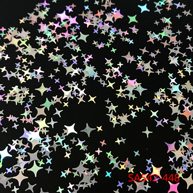 TCT-132 12 Kinds Colors Four Angle Stars Shape Nail Glitter Sequins For Nail Art Decoration Makeup Body Art DIY Decoration салфетница голубая роза 1034141
