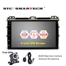 SMARTECH 2Din Android 7.1 OS 9 zoll IPS Bildschirm Autoradio GPS-Navigation für TOYOTA Land Cruiser Prado 120 2004-2009 mit CAN-BUS