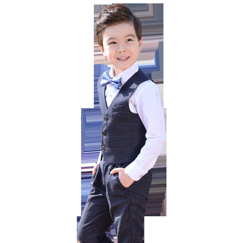 e1da0de90 ... Dollplus Toddler Boys Suits Wedding Formal Children Suit Tuxedo Dress  Party Costumes Shirt Vest Pants 3pcs ...