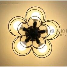 Современный Мини-Цветок Тени Потолочный Светильник Черный 5 Огни Металла полу Заподлицо Потолочный Светильник для Гостиной Балкон Hallw