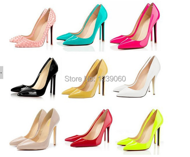 b52849917c9d Classic Sexy Pointed Toe red bottom High Heels Women Pumps Shoes sexy party  shoes Brand Design Platform Pumps 10 Colors Big Size