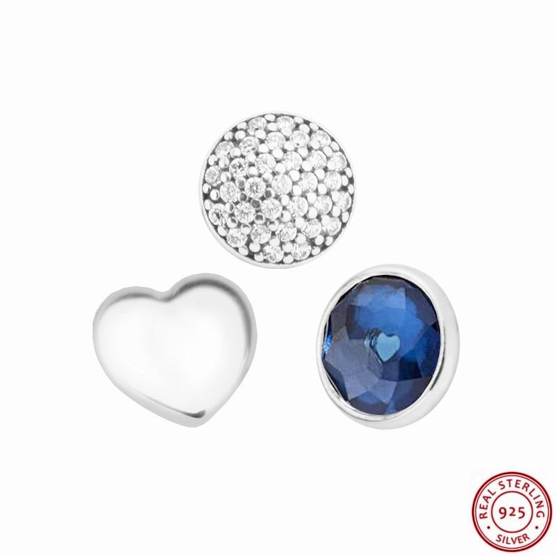 c960acf656a79 925 Sterling Silver September Droplet Petite Beads DIY Fit Pandora Floating  Locket Necklaces Pendants or Bracelets 3PCS FLS009-9