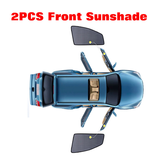 2 pcs 2 Pcs Magnetic Car Front Side Window Sunshade For Hyundai Mistra Verna Sonata Tucson Celesta Sun Block Car Sunshade Curtain (5)