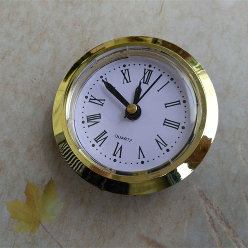20 ピース/ロット直径 50 ミリメートルクォーツ時計挿入ゴールドリム古典時計クラフトクォーツムーブメントのラウンド時計ヘッドインサートクォーツ  グループ上の ホーム&ガーデン からの 時計パーツ & アクセサリー の中 1