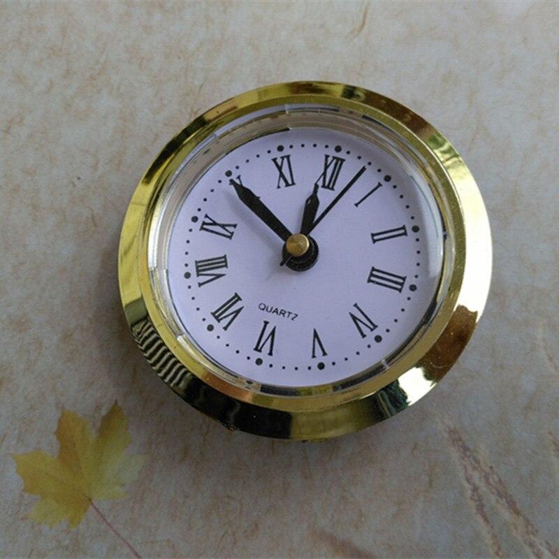 20 unids/lote diámetro 50MM reloj de cuarzo insertar llanta de oro Reloj clásico artesanía movimiento de cuarzo relojes redondos cabeza insertar cuarzo-in Partes y accesorios de reloj from Hogar y Mascotas    1