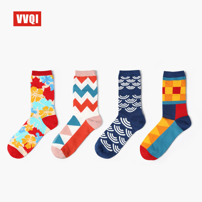 Underwear & Sleepwears Hearty Vvqi Women Art Crew Cotton Streetwear Funny Socks Men Harajuku Fashion Novelty Cute Hip Hop Dress Striped Socks Ping-pong Sheer Factory Direct Selling Price
