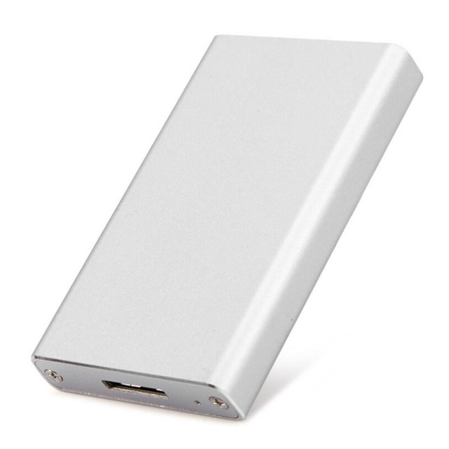Liga de Alumínio frete grátis MSATA para USB3.0 caixa de disco rígido SATA3 6g Mini caixa de disco rígido móvel de 2.5 polegada