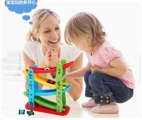 Delivery Is Free Children S Toys Wooden Roller Coasters Four Layers Gliding Car Toy Slide Block