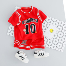 New Toddler Baby Boy Summer Clothes Set Basketball Uniform T-shirt & Shorts 2pcs Tracksuit Newborn Cotton Sports Outfit