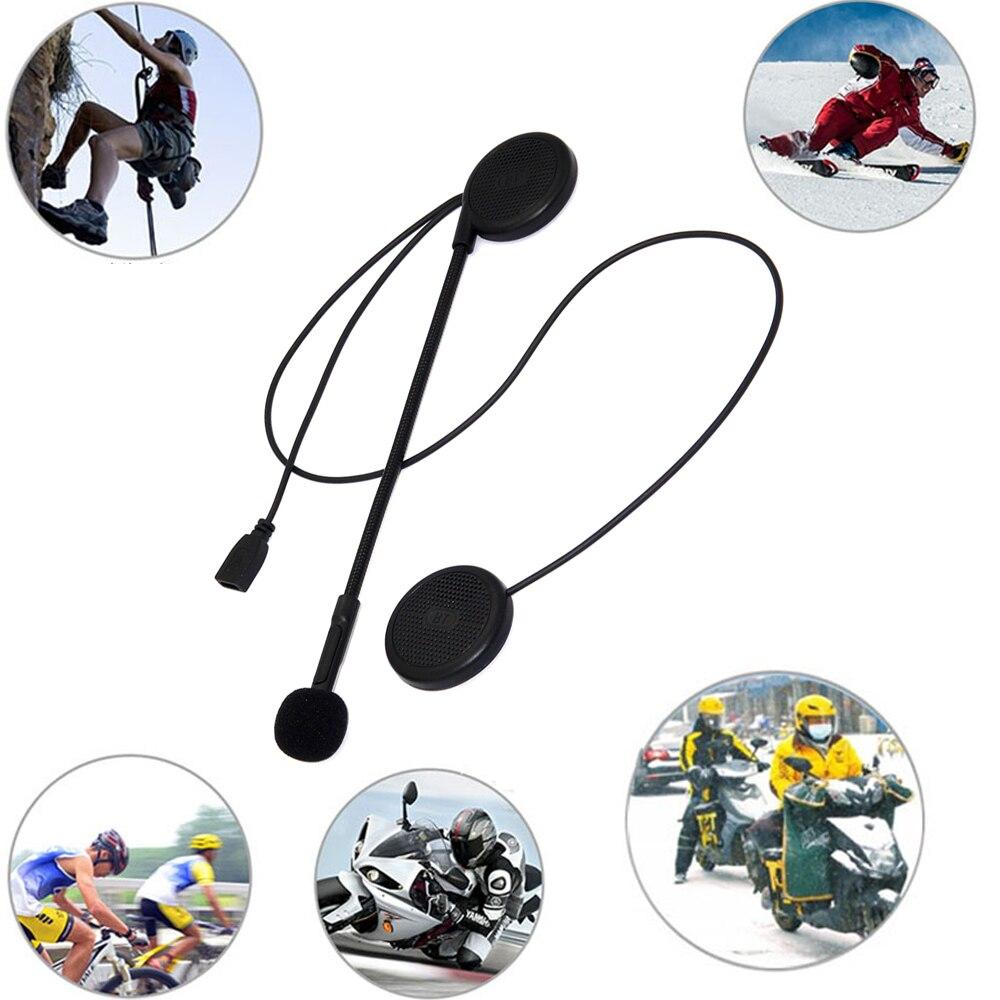 Motorcycle Helmet Headset Wireless Bluetooth Handsfree Speaker With Mic Music Receiver USB Charging  Moto Headphone Helmets