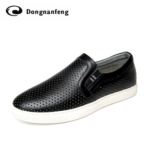 2016 Nuevos Holgazanes de Los Planos de Zapatos de Los Pares Amantes de Marea Británica Hueco Zapatos de Las Mujeres Zapatos Casuales Sandalias de Marca Coreana Doug JFN-823-1
