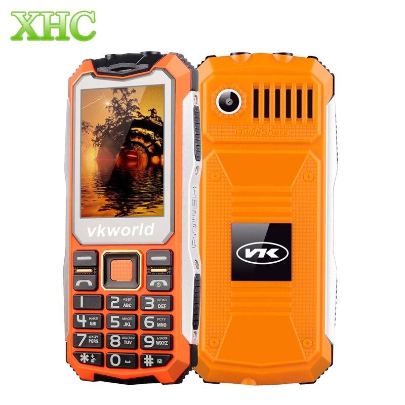 VKworld Pietra V3S 32 MB Telefono Anziano Quotidiana Impermeabile Antiurto Grande SCATOLA Dell'altoparlante Doppio Luci LED Tastiera Russa Telefoni Cellulari