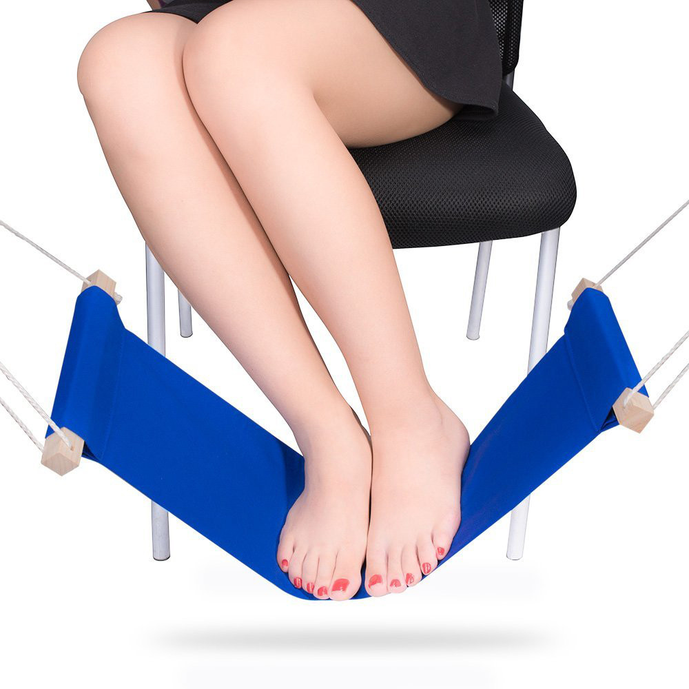 New Mini Office Foot Rest Stand Desk Feet Hammock U61109