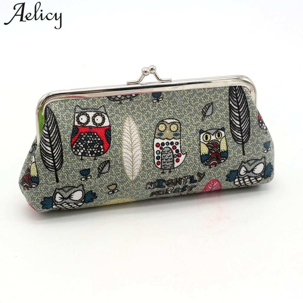 Aelicy Women Lady Retro Vintage Owl Small Wallet Hasp Purse Clutch Bag Women's Purses and Ladies Handbags portefeuille homme new fashion women lady retro vintage flower print small wallet hasp purse clutch bag girl classical coin card money purse jan16