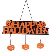 halloween decoration happy halloween hanging hang tag window decoration pumpkin hanging strips window festival home decoration - Halloween Hanging Decorations