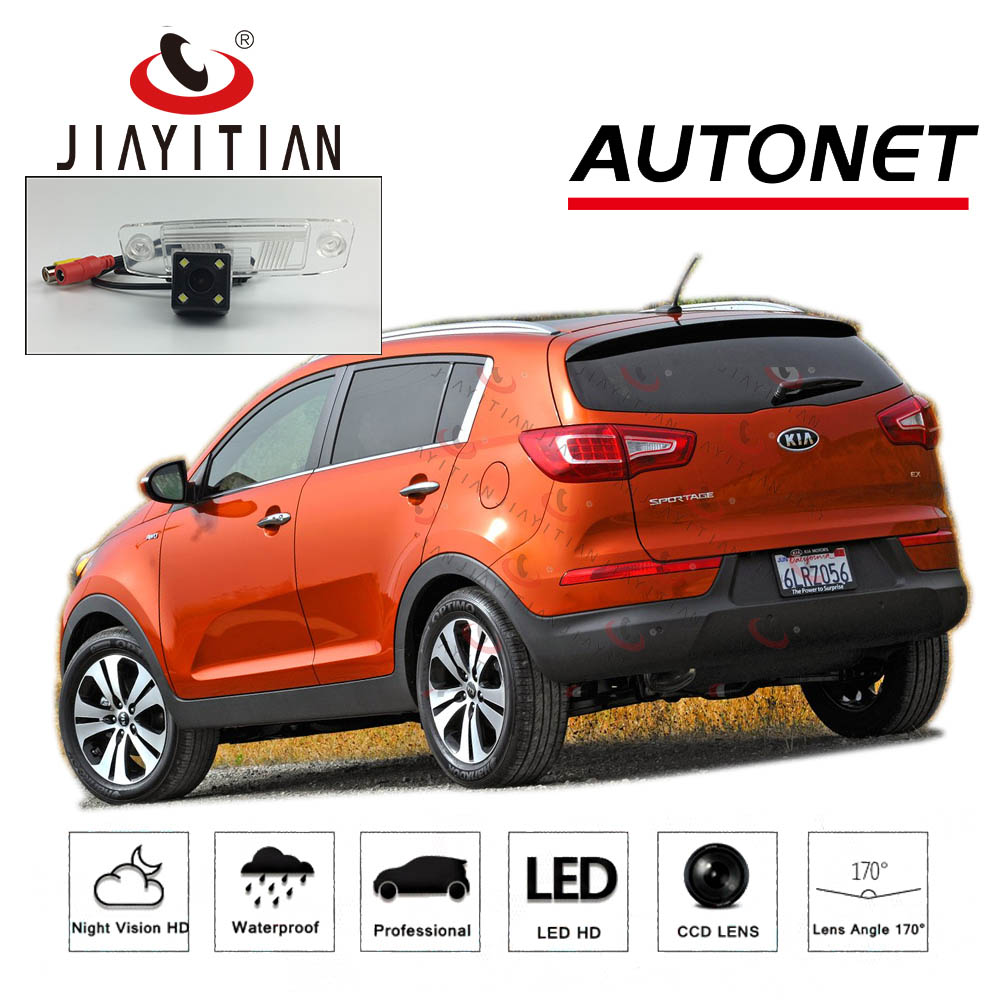 JIAYITIA Rear View Camera For Kia Sportage 3 SL/Sportage R 2010~2015 CCD Night Vision License Plate Camera Backup Camera Reverse