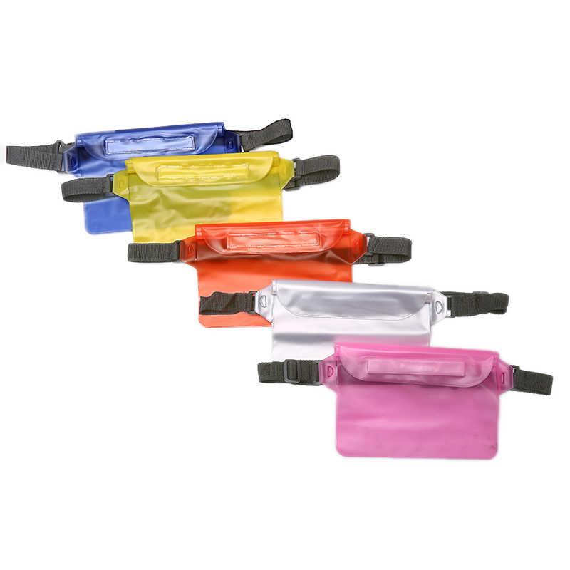 Kering Underwater Bahu Pinggang Pack Tas Kantong Saku untuk Mobile Phone Case Cover/Kamera Tahan Air Drift Menyelam Renang Tas