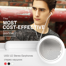 Earphone with Microphone UiiSii U2 Fashion 3.5mm Stereo Earbud Surround Sound for iPhone Samsung Nokia Xiaomi HTC PC Tablet iPad