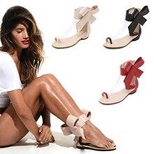 ผู้หญิงรองเท้าแตะ2016รองเท้าผู้หญิงสไตล์ฤดูร้อนs andaliasบิ๊กBowtieใหม่G Ladiatorแฟชั่นของผู้หญิงรองเท้าแบนสุภาพสตรีZ Apatos Mujer