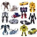 Chegada nova Mini Clássico de Transformação de Plástico Carros Do Robô Figura de Ação Crianças Brinquedos Educativos Puzzle Brinquedo Presentes