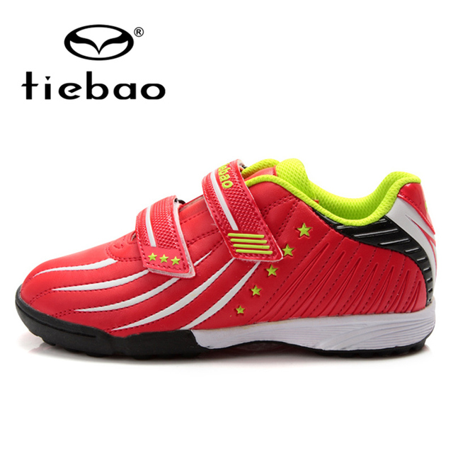 TIEBAO New PVC leather children soccer shoes outdoor boys & girls shoes sneakers children football shoes football boots