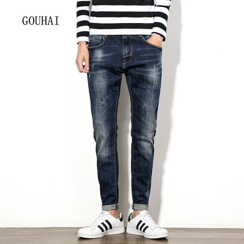 Men Jeans Blue Plus Size Mens Denim Jean Cotton Pants 2016 Autumn Winter Men Denim Trousers Classical Slim Jeans Men Denim Pant