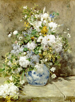 Skill Painter Pure Hand Painted High Quality Classical Flower Painting for Wall Art Decor Realistic Impression Flowers Oil Paint